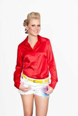 Zijden Rode Blouse
