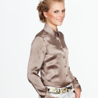 Zijden Blouse Taupe 26