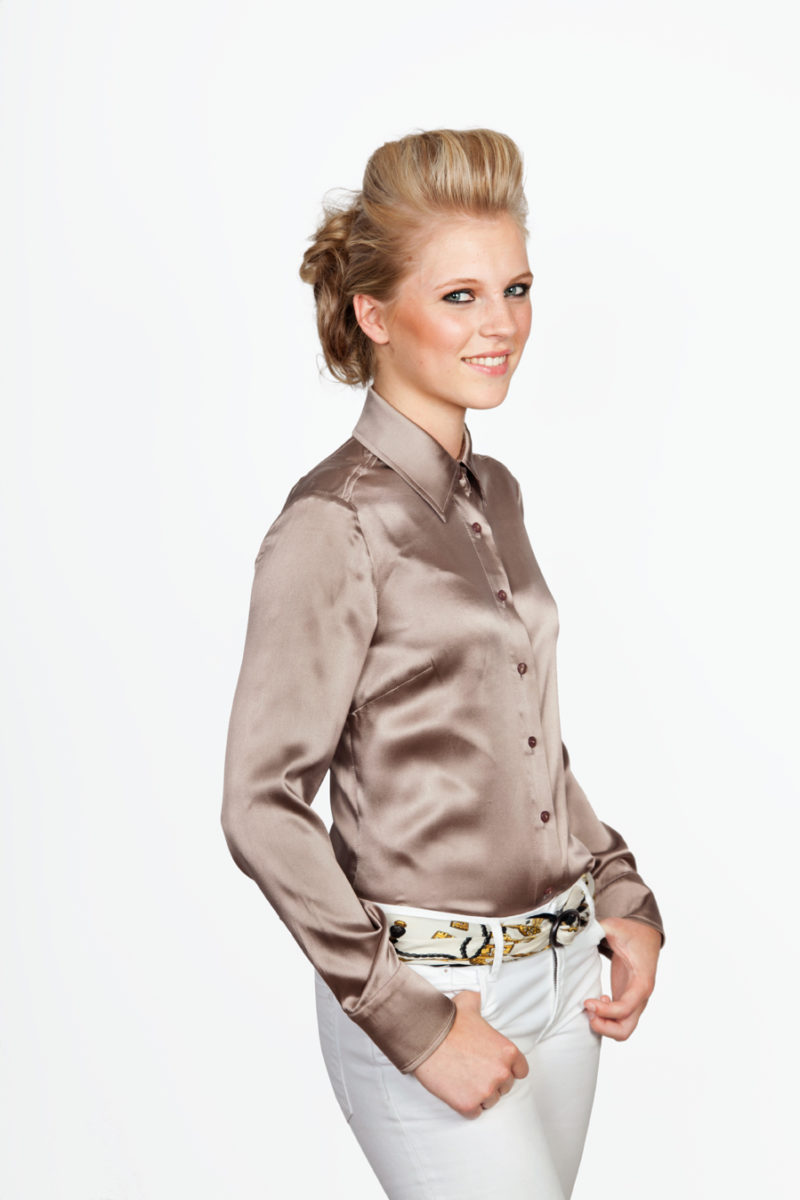 Zijden Blouse Taupe 51